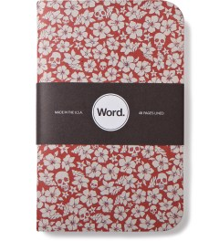Word. Red Floral 3 Pack Notebook Picture