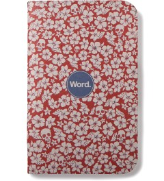 Word. Red Floral 3 Pack Notebook Model Picture