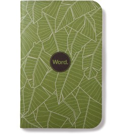 Word. Green Leaf 3 Pack Notebook Picture