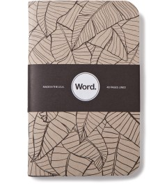 Word. Tan Leaf 3 Pack Notebook Picture