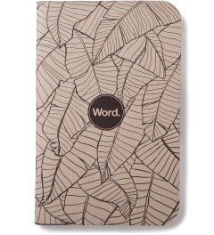Word. Tan Leaf 3 Pack Notebook Model Picture