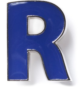 Raf Simons Blue R Brooch Picture
