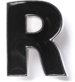 Raf Simons Black R Brooch Picture
