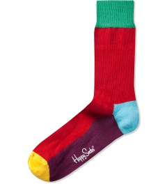 Happy Socks Red/Purple Five Colour Sock Picture