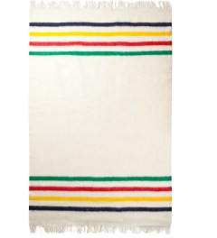 Hudson's Bay Company Multi Multistripe Caribou Throw Blanket Model Picture