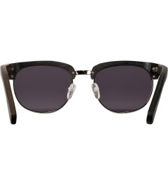 Shwood Dark Walnut Silver Grey Eugene Sunglasses Model Picutre