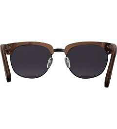Shwood Walnut Black Grey Eugene Sunglasses Model Picture