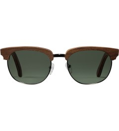 Shwood Walnut Silver G15 Polarized Eugene Sunglasses Picture