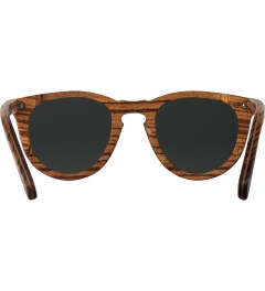 Shwood Zebrawood Grey Polarized Belmont Sunglasses Model Picutre