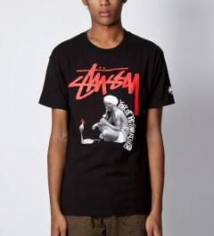 Stussy Black Snake Charmer T-Shirt Model Picutre