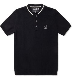 Raf Simons x Fred Perry Black Knitted Bomber Neck FP Polo Picture