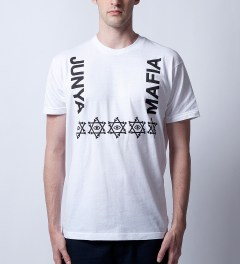 Junya Mafia White Kim T-Shirt Model Picutre