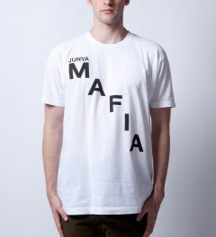 Junya Mafia White Cease T-Shirt Model Picture