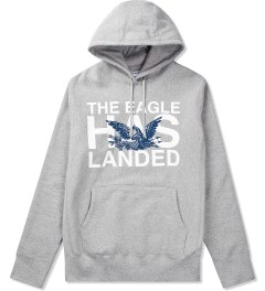 Mark McNairy Heather Grey Eagle Hoodie Picutre