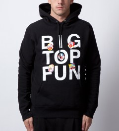 Mark McNairy Black Big Top Hoodie Model Picutre