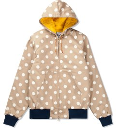 Mark McNairy Khaki Dot Quilted Zip Hooded Jacket Picutre