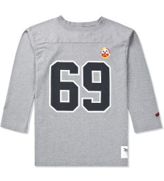 Mark McNairy for Heather Grey Wall Heather Grey 69 Football T-Shirt  Picutre