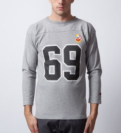 Mark McNairy for Heather Grey Wall Heather Grey 69 Football T-Shirt  Model Picutre
