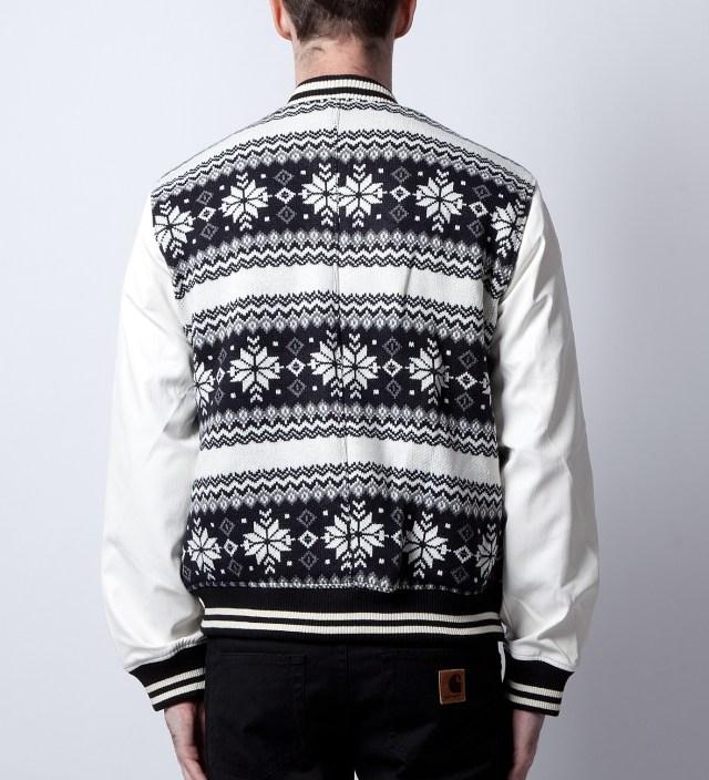 Black/White Abstract Baseball Jacket