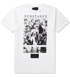 Tourne de Transmission White Print Substance T-Shirt Picutre