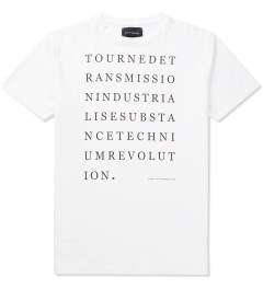 Tourne de Transmission White Print Technium Revolution T-Shirt Picutre