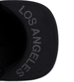 Stampd Black East Snapback Cap Model Picutre