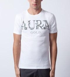 AURA GOLD White Aura Statue T-Shirt Model Picture