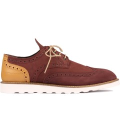 Filling Pieces Burgundy Wingtip Broque Shoe Picutre