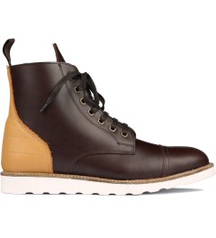 Filling Pieces Brown Full Grain Leather Oxford Boot Picutre