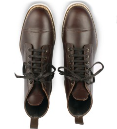 Filling Pieces Brown Full Grain Leather Oxford Boot Model Picutre