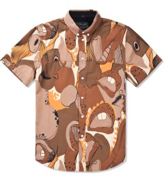 i love ugly. Beige Big Mouth Frankie Short Sleeve Shirt Picutre