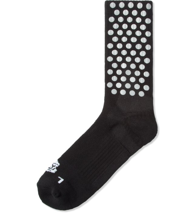 Black Half Calf Reflective Performance Socks
