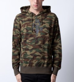 Mark McNairy for Heather Grey Wall Camo TCMFB Parka Hoodie Model Picutre