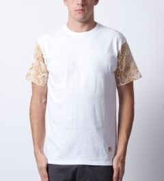 Mister White/Gold Mr. Metallic Snake T-Shirt  Model Picture