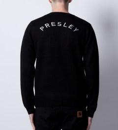Opening Ceremony Opening Ceremony x Elvis Black Elvis Studs Sweater  Model Picture