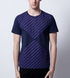 Opening Ceremony Navy Diamond Print T-Shirt  Model Picture