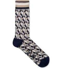 P.A.M. Navy Tiled Sock  Picutre