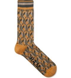 P.A.M. Mustard Tiled Sock  Picutre
