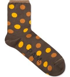 P.A.M. Dark Olive Dot Sock Picutre