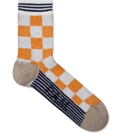 P.A.M. Mustard/White Checker Sock Picutre