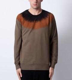 P.A.M. Olive Fuzz Sweater Model Picutre