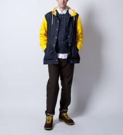 RAINS Blue Yellow Jacket Ltd  Model Picutre
