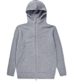 SILENT Damir Doma Grey Kaio MNS Knit Hoodie  Picture