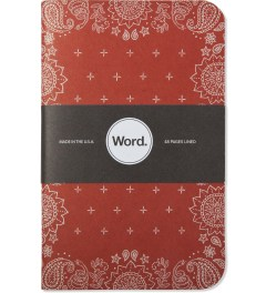 Word. Red Bandana 3 Pack Notebook Picture