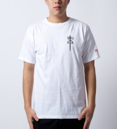 SSUR White Deus T-Shirt Model Picutre