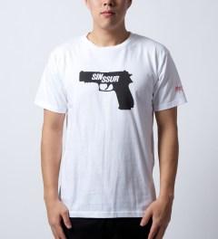 SSUR White SIN SSUR T-Shirt Model Picture