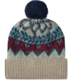 Carven Light Beige Bonnet Pom Pom Mountain Knit Hat Picture