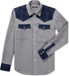 CASH CA Grey Wool Western Shirt Picutre