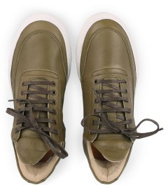 Filling Pieces Full Grain Olive Lowtop Shoe Model Picutre