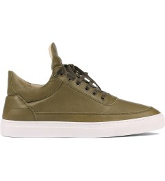 Filling Pieces Full Grain Olive Lowtop Shoe Picutre